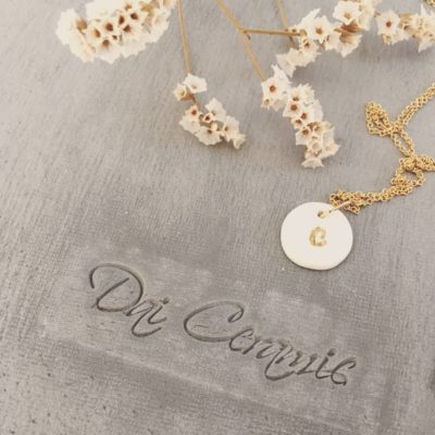 Collier lettre Dai Ceramic